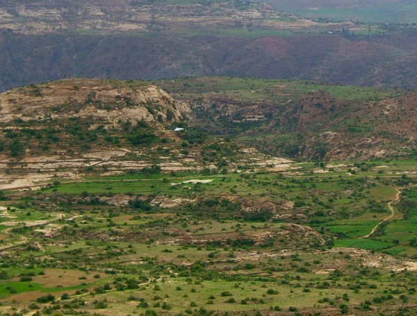 Deforested landscape from Ethiopia