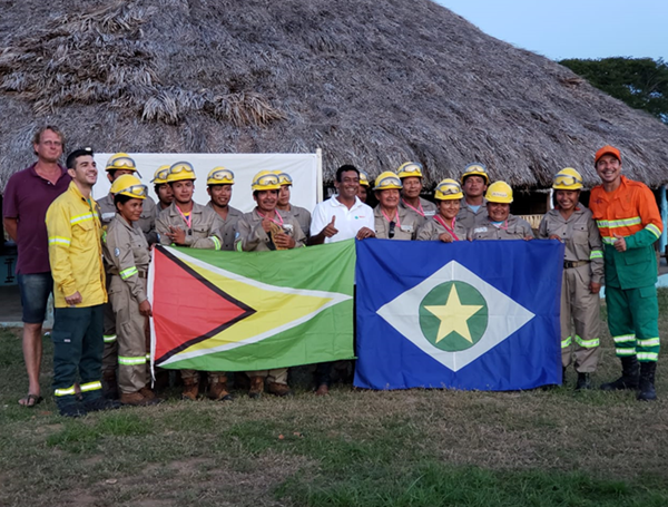 Fire protection crew in REDD+ pilot project in Guyana