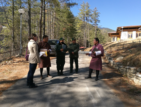 Arbonaut's experts with Department of Forest and Park Services personnel in Bhutan