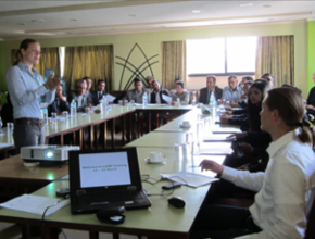 Expert giving consultancy on forest resource assessment project in Nepal