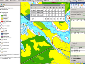Screenshot of Silvia GIS system showing forest data from Finland