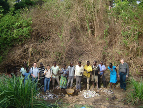 Arbonaut's team together with local experts in Ugandan forest