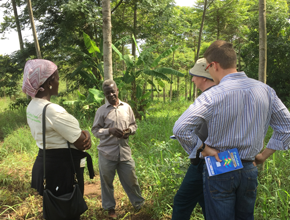 Arbonaut's team together with local experts in forest in Uganda